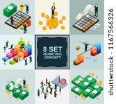 business finance isometric set | Shutterstock .eps vector #1167566326