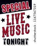 live music tonight sign for... | Shutterstock .eps vector #1167567319