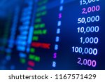 stock market graph analysis.... | Shutterstock . vector #1167571429