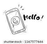 Smartphone Hand Drawn