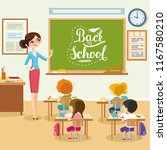 school lesson  students listen... | Shutterstock .eps vector #1167580210