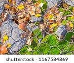 steel gabion filled with... | Shutterstock . vector #1167584869