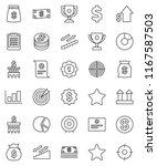 thin line vector icon set  ... | Shutterstock .eps vector #1167587503