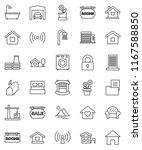 thin line vector icon set  ... | Shutterstock .eps vector #1167588850