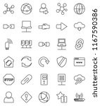 thin line vector icon set  ... | Shutterstock .eps vector #1167590386
