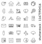 thin line vector icon set  ... | Shutterstock .eps vector #1167590416