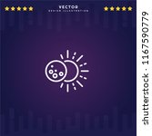 outline eclipse icon isolated...