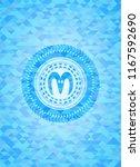 goat head icon inside sky blue... | Shutterstock .eps vector #1167592690