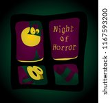 night terror   you stare out... | Shutterstock .eps vector #1167593200