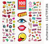 fashion stickers and badges... | Shutterstock .eps vector #1167595186