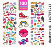 woman fashion stickers... | Shutterstock .eps vector #1167595213