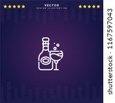 outline champagne icon isolated ...