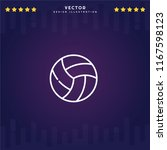 outline volleyball icon...