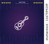 outline guitar icon isolated on ...