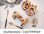 dessert fruit birthday cake | Shutterstock . vector #1167599569