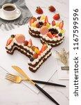 dessert fruit birthday cake | Shutterstock . vector #1167599596