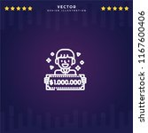 outline lottery icon isolated...