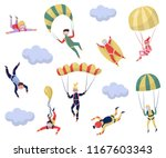flat vector set of professional ... | Shutterstock .eps vector #1167603343
