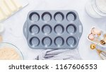 step by step. baking vanilla... | Shutterstock . vector #1167606553