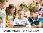 children from primary school | Shutterstock . vector #1167612826