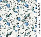 floral seamless pattern. vector ...   Shutterstock .eps vector #1167614686