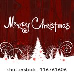 handwriting. merry christmas.... | Shutterstock .eps vector #116761606