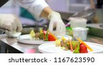 chef preparing food  meal  chef ... | Shutterstock . vector #1167623590