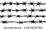silhouette of the barbed wire... | Shutterstock .eps vector #1167624790