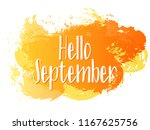 orange hello september autumn... | Shutterstock .eps vector #1167625756