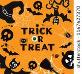 template card for halloween... | Shutterstock .eps vector #1167627370