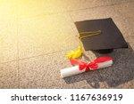 black graduation cap and ...   Shutterstock . vector #1167636919