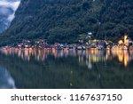 hallstatt  a village located in ... | Shutterstock . vector #1167637150
