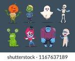 halloween characters. cute... | Shutterstock .eps vector #1167637189