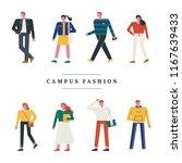 stylish student fashion people... | Shutterstock .eps vector #1167639433