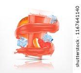 grapefruit juice splash with...   Shutterstock .eps vector #1167641140