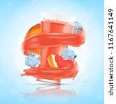 grapefruit juice splash with...   Shutterstock .eps vector #1167641149
