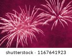bright holiday fireworks in... | Shutterstock . vector #1167641923