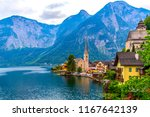 view of the alpine town of... | Shutterstock . vector #1167642139