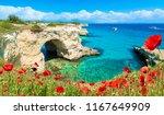 stacks of torre sant andrea ... | Shutterstock . vector #1167649909