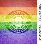 gold membership on mosaic... | Shutterstock .eps vector #1167653809