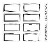 set of black rectangle grunge... | Shutterstock .eps vector #1167657649