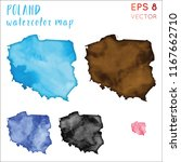 poland watercolor country map.... | Shutterstock .eps vector #1167662710