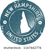 new hampshire map vintage blue... | Shutterstock .eps vector #1167662776