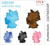 germany watercolor country map. ... | Shutterstock .eps vector #1167663169