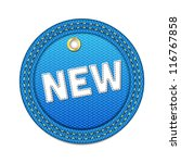 blue vector denim round new tag ... | Shutterstock .eps vector #116767858