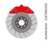 brake disc auto spare part...   Shutterstock .eps vector #1167681010