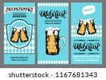 oktoberfest flyer. beer... | Shutterstock .eps vector #1167681343