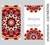 design vintage cards with... | Shutterstock .eps vector #1167683506