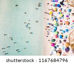 aerial view of a white beach... | Shutterstock . vector #1167684796
