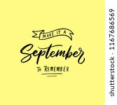 september typography and... | Shutterstock .eps vector #1167686569